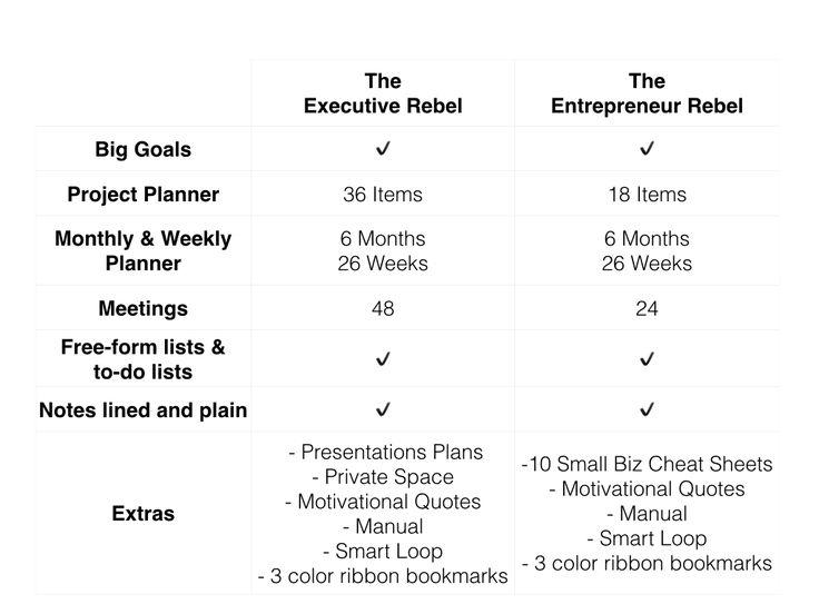 Rebel's Agenda Comes in two versions