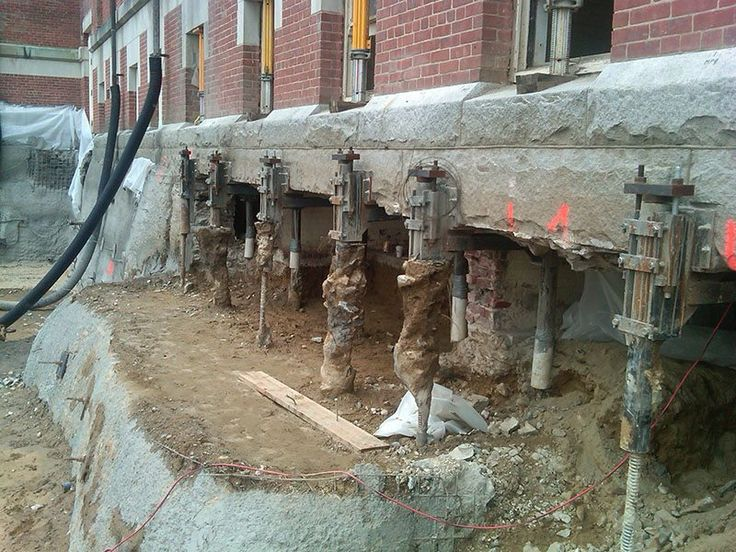 12 best underpinning specialists images on pinterest for Basement construction methods