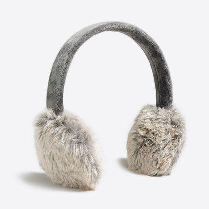 Faux-fur earmuffs : Cold-Weather Accessories | J.Crew Factory