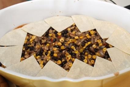 Mushroom and Black Bean Enchilada Casserole | Recipe
