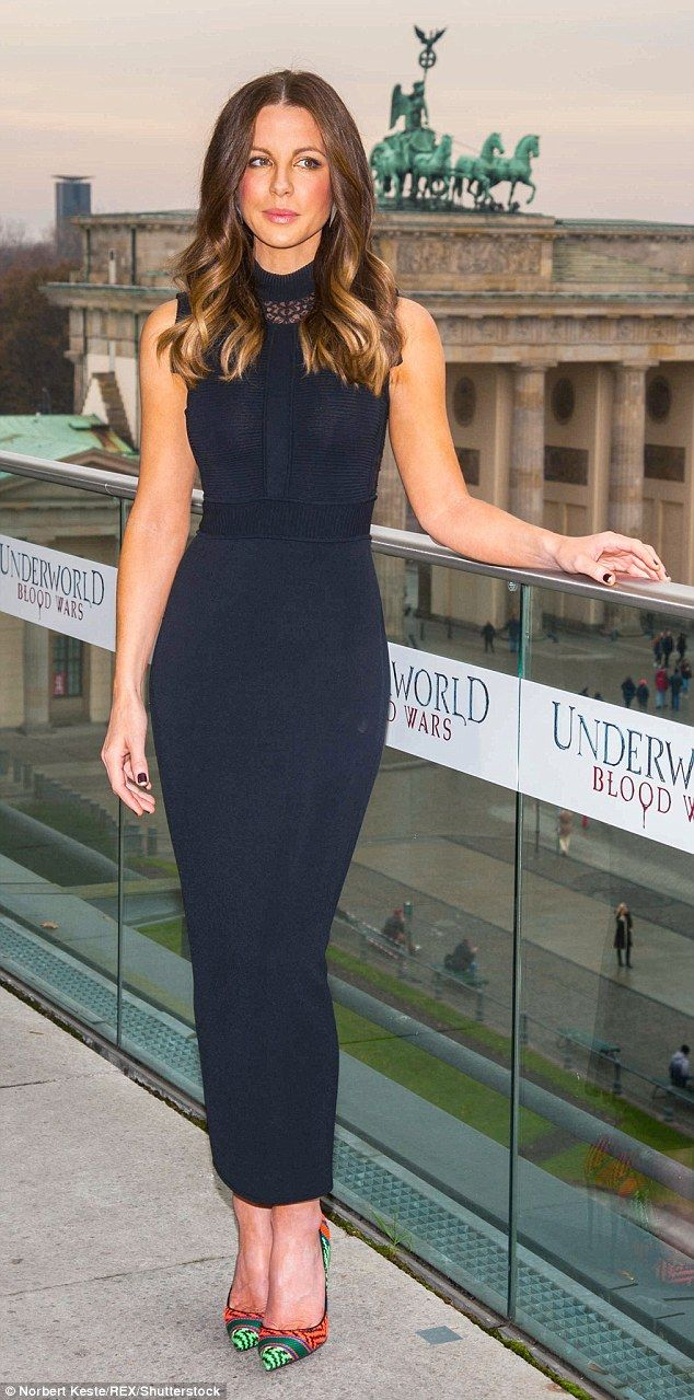 Turning heads: Kate Beckinsale took centre-stage once again as she attended a photocall in...