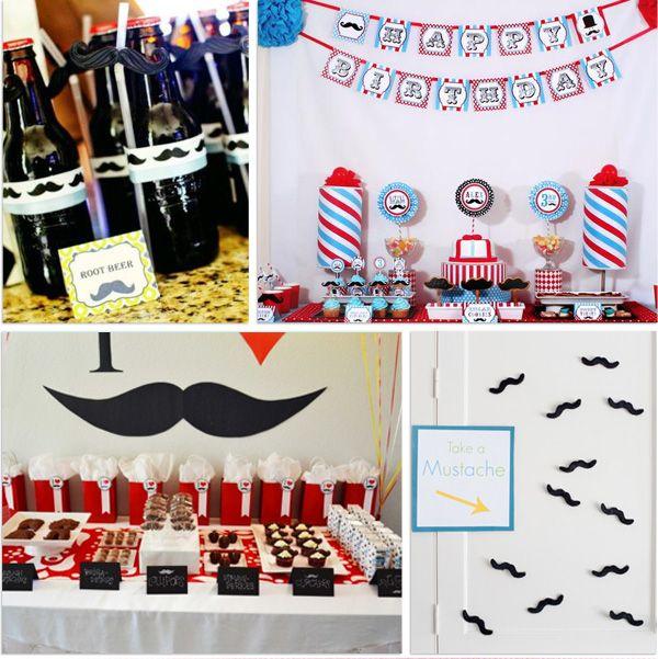 ideas para una fiesta bigote