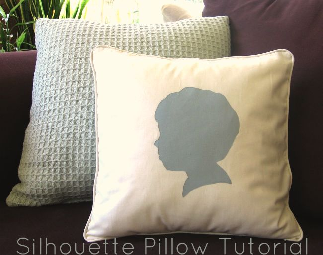 U Create: Silouette Pillow Tutorial by Homemade By Jill