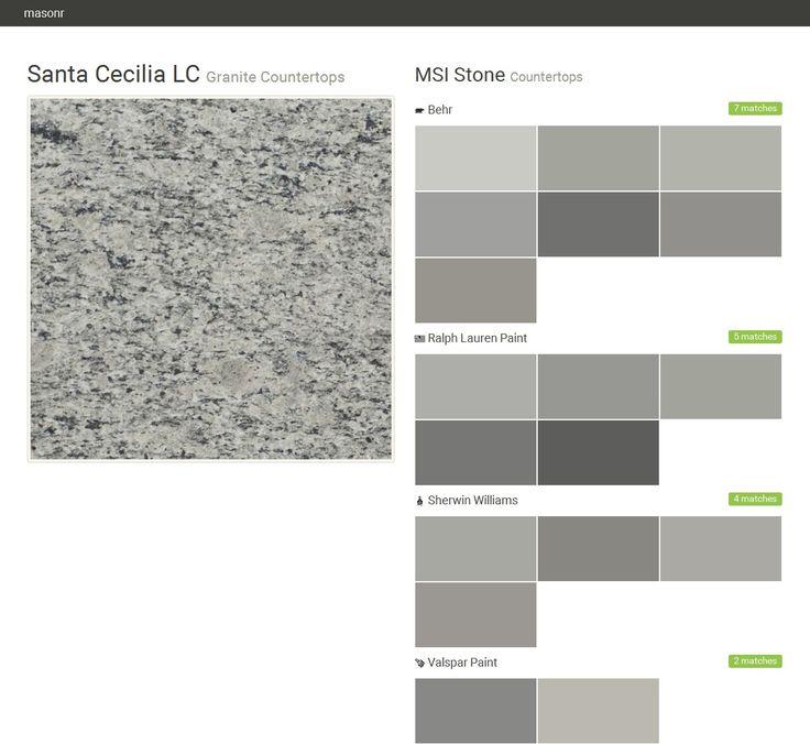 Santa Cecilia LC. Granite Countertops. Countertops. MSI Stone. Behr. Ralph  Lauren Paint. Sherwin Williams. Valspar Paint. Click The Gray Visit Butu2026