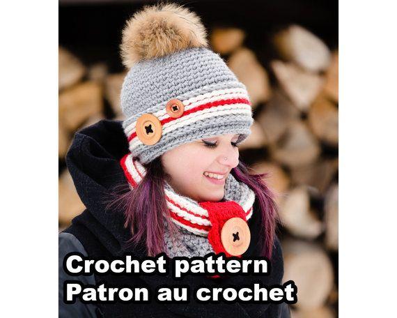 """*** CETTE FICHE EST POUR LE PATRON AU CROCHET SEULEMENT (DOCUMENT NUMÉRIQUE) ET NON LARTICLE PHYSIQUE ***  --------------------------------------  LANGUES : Français ET anglais. (Vous recevrez 2 PDF)  --------------------------------------  NIVEAU : Intermédiaire  --------------------------------------  GRANDEURS DES TUQUES: Petite Fait pour une circonférence de tête de 19"""" – 20 3⁄4"""" (48-53 cm) [1-3 ans]  Moyenne Fait pour une circonférence de tête de 21 1⁄4"""" – 22 1⁄2"""" (54-57 cm) [6-10 ans…"""