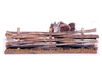 Miniatures Décors accessoires crèche - grande barrière en bois -