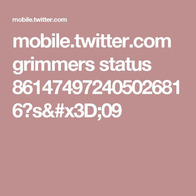 mobile.twitter.com grimmers status 861474972405026816?s=09