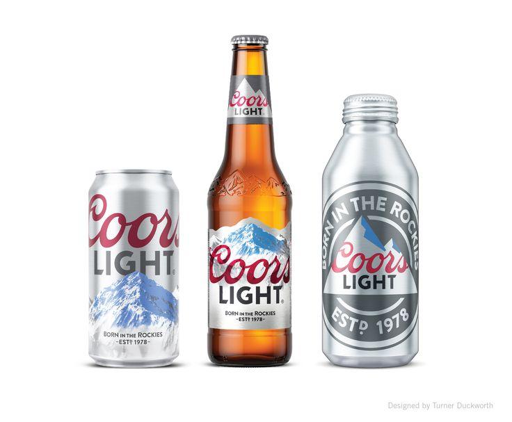 Coors Light Visual Identity. Designed by Turner Duckworth.