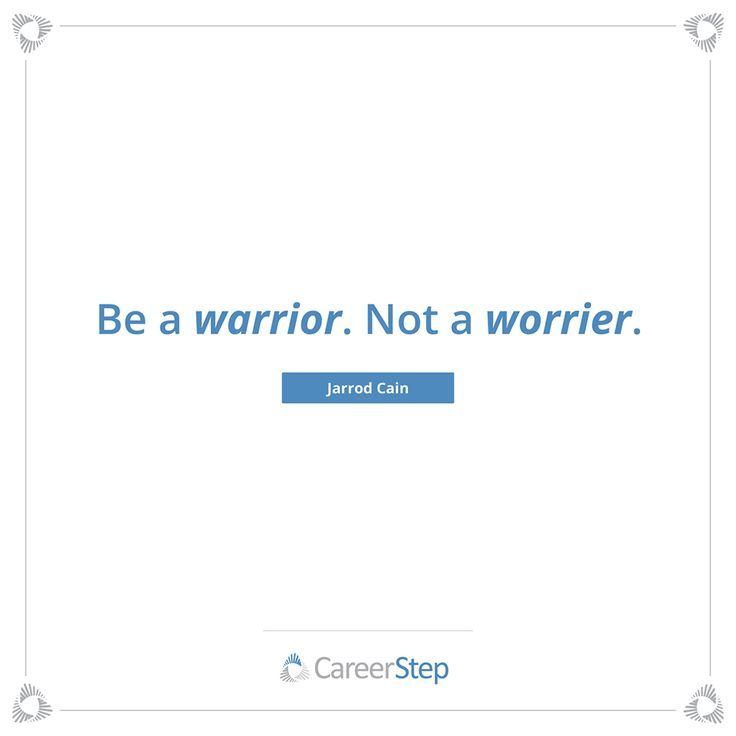 Unleash your inner warrior. Have faith, stay focused and most importantly, FINISH!