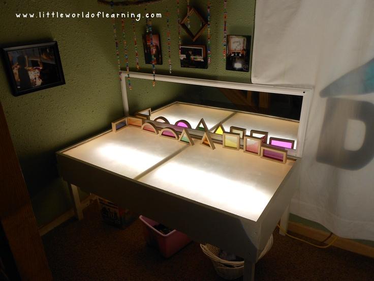 Our Reggio-Inspired Light Table