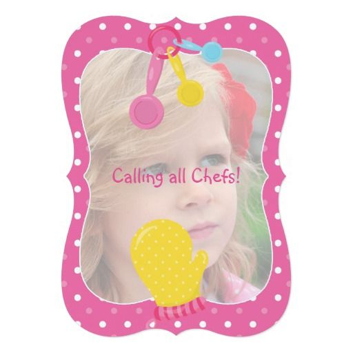 Girls Baking Cupcake Party 5x7 Paper Invitation Card