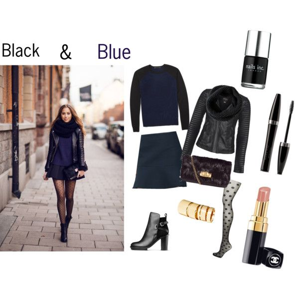 """Black & Blue"" by yvonne-alsemgeest on Polyvore"