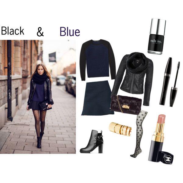 """Black & Blue"" by yvonne-alsemgeest on Polyvore"