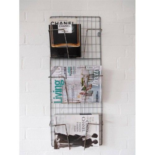 funky industrial magazine rack