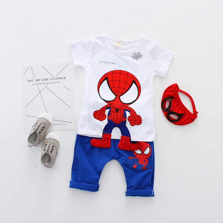 >> Click to Buy << Spiderman Suit for Kids New Born Baby Boy Summer Clothes Brand Set 2 Years 5t Spiderman Mask Costume Children  T Shirt and Pant #Affiliate