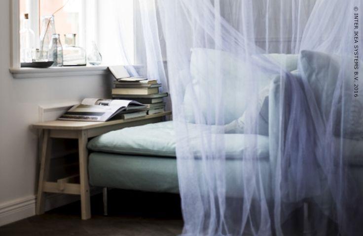 Créez-vous un petit coin intime dans la maison grâce à des rideaux qui vous envelopperont.