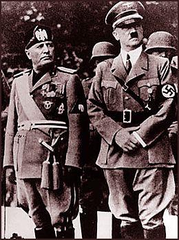 MUSSOLINI DREPT: Det skal ha gått sterkt innpå Hitler, at han hørte at den italienske forbundsfellen - diktatoren Benito Mussolini - var henrettet av partisaner 27. april 1945, da han var på flukt til Sveits sammen med sin elskerinne Clara Petacci.