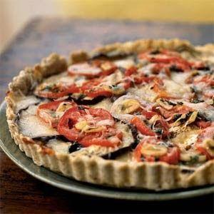 Eggplant, Tomato, and Smoked Mozzarella Tart | Foodking