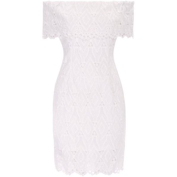 Yoins White Off Shoulder Lace Mini Dress ($27) ❤ liked on Polyvore featuring dresses, black, off the shoulder cocktail dress, lace mini dress, off-the-shoulder lace dresses, white off shoulder dress and short dresses