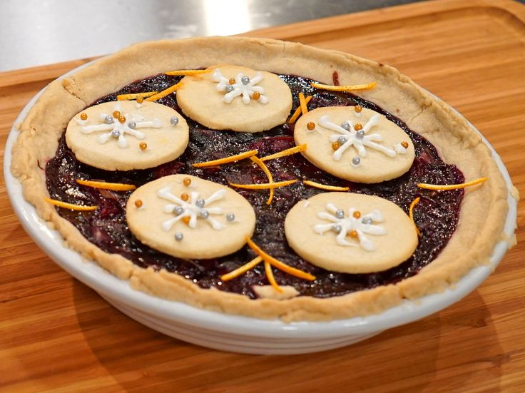 First Snow Cherry Pie with Snowflake Sugar Cookies recipe from Holiday Baking Championship via Food Network