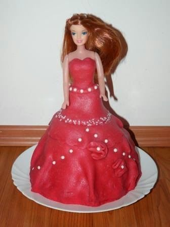 My first Barbie cake. Tutorial with pictures.