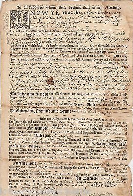 COLONIAL CONNECTICUT LANDS COTTON MATHER ISAAC NEWTON RELATED DOCUMENT 1728