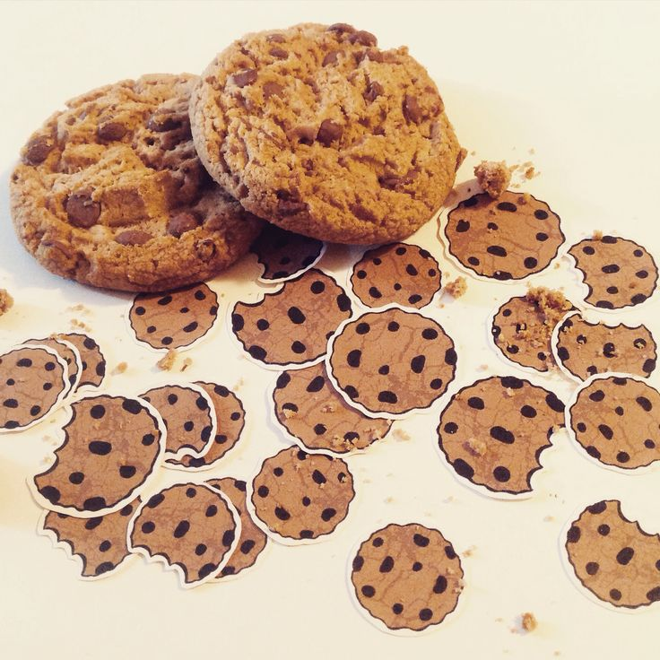 Chocolate chip cookie stickers from Fun2Art :)