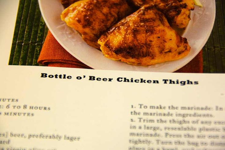 I am on a cooking kick and therefore a food bloggin' kick this weekend. So, I finally documented my very favorite chicken recipe EVER.   Bottle o' Beer Chicken Thighs from one of my fav…