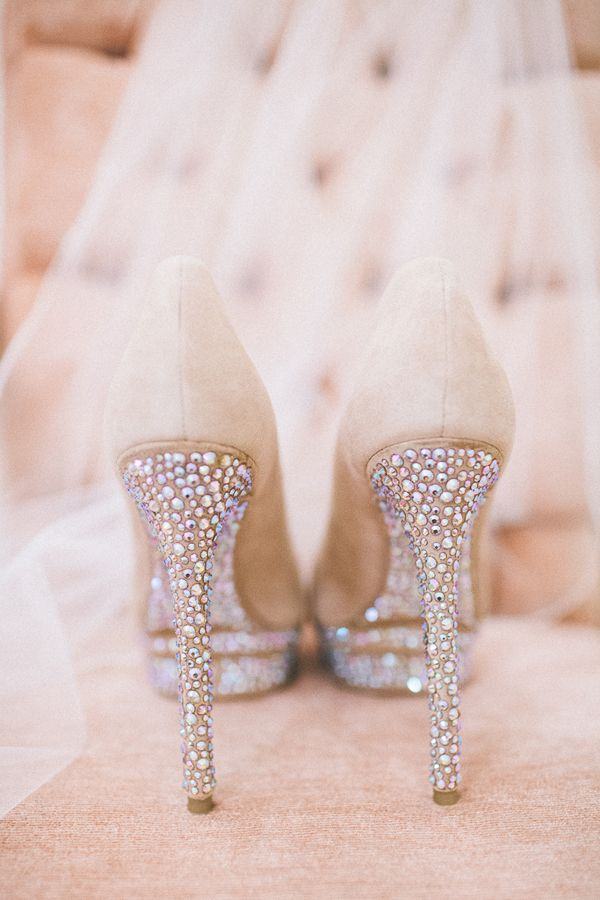 Brian Atwood Heels. Sparkle!! My friend's wedding shoes. Gorgeous.