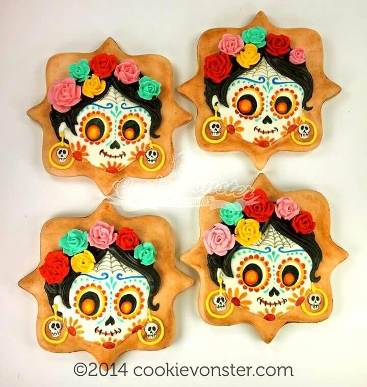 cookievonster sugar skulls for dia los muertos - Halloween Dia