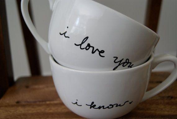 i+love+you.+i+know.+white+cappuccino+mugs/tea+by+chramberries,+$28.50