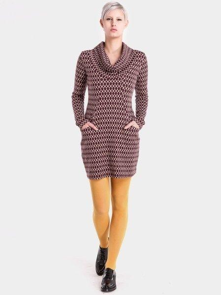 Jurk Halbmond Aubergine - Ato Berlin, laatste XL en XXL | Ato Berlin | 38 Dresses