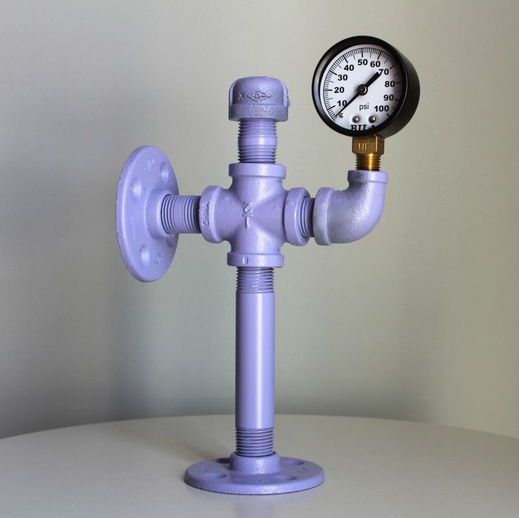 Bookend! What color do you want? This was a custom order for  a lavender bookend with pressure gauge. Now a part of our pipe line!