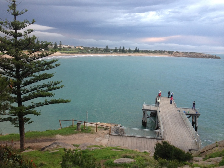 Horseshoe Bay, Port Elliot, South Australia. Jetty jumping !!