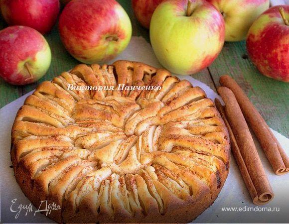 Корнуэльский яблочный пирог. Ингредиенты: яблоки, пшеничная мука, сахар
