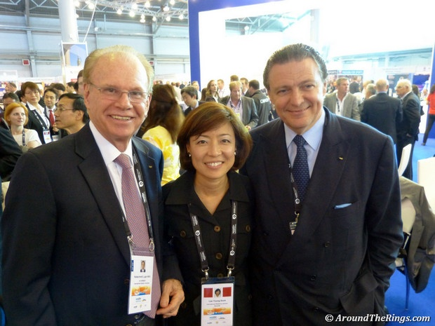 Willi Kaltschmidt, Young Sook Lee, Richard Carrion. #SportAccord #Conference #SAC2013 #SportAccordConvenion #Olympics #Sports #AroundTheRings #Russia