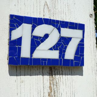 Custom Address Plaque by Live In Mosaics