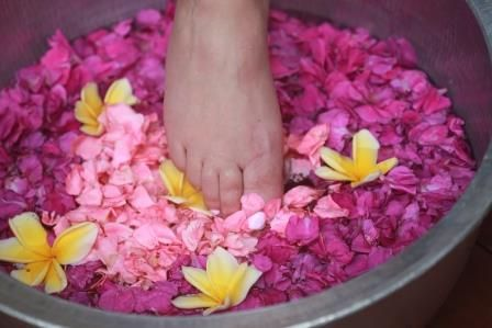 The foot ritual is a wonderful addition to the Retreats at Aroma Spa Retreat