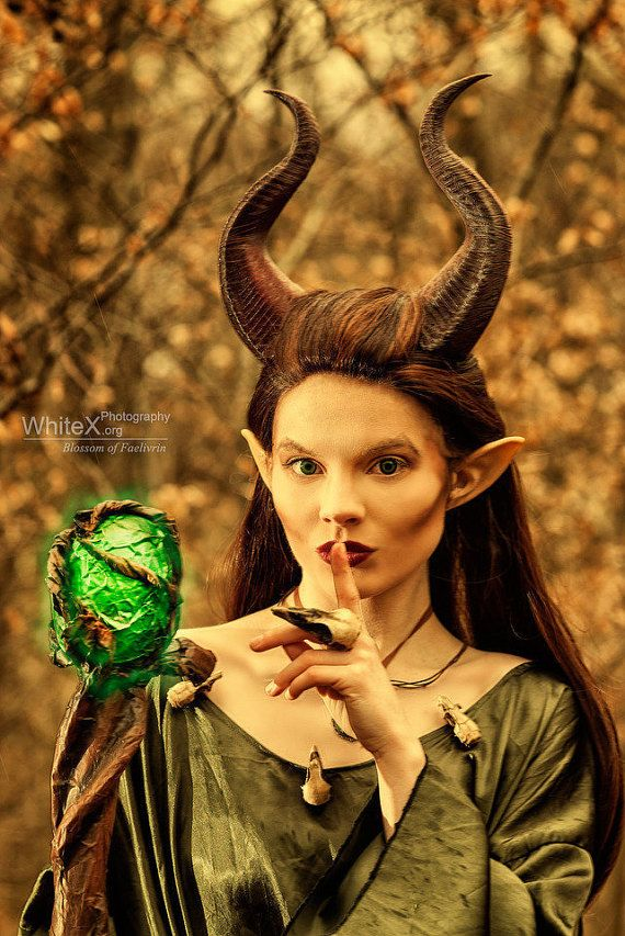 """NEWLY IMPROVED! Young Maleficent Inspired 9.5"""" Horns  3D Printed (Ultra Light Weight Plastic) Suitable for kids and adults comic-con"""