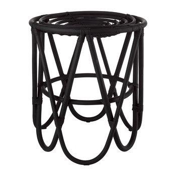 Rattan Paperclip Stool - Black