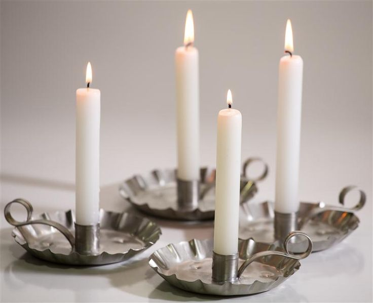 """10"""" White Dripless Candles"""