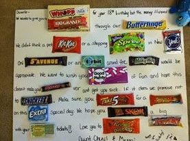 Birthday candy, Candy and Birthdays on Pinterest