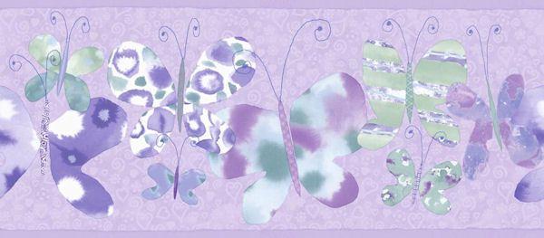 Butterfly Border Purple - Wall Sticker Outlet