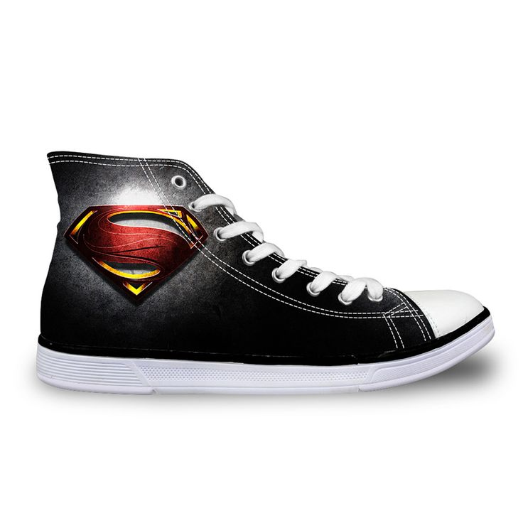 Горячие мужские свободного покроя парусиновые туфли мстители герой супермен человек паук бэтмен печать обувь для мальчика спортивные мужские высокого верха обуви мужчина студентыкупить в магазине FOR U DESIGNS SHOESнаAliExpress