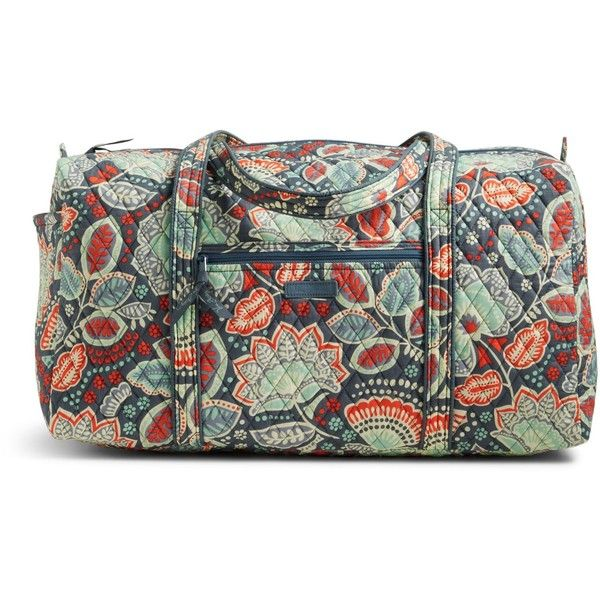 Vera Bradley Large Duffel 2.0 Travel Bag in Nomadic Floral ($85) ❤ liked on Polyvore featuring bags, luggage and nomadic floral