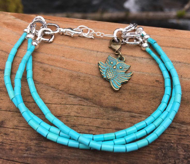 Excited to share the latest addition to my #etsy shop: Minimalist Bracelet - Minimalist Bracelet for Women - Sleeping Beauty Turquoise Bracelet - Minimalist Turquoise - Owl Bracelet - Boho Chic