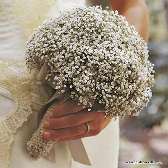 bruidsboeket+wit+gipskruid+gypsofilia