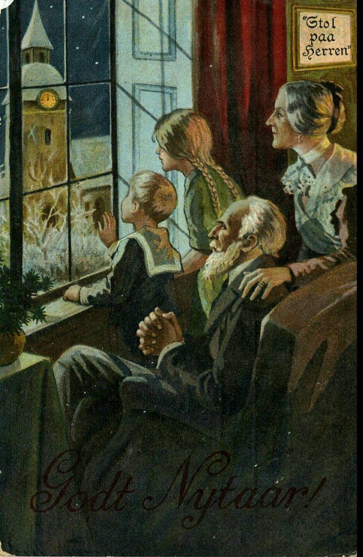 Nyttårskort brukt 1912 Utg Mittet