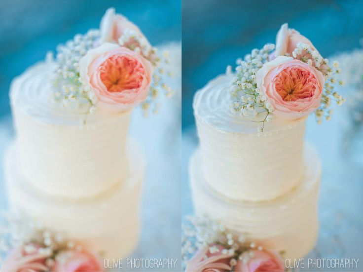 Peony cake topper, rough icing wedding cake, simple rustic wedding cake - Olive Photography | www.olivephotography.ca | Toronto & GTA wedding photographer