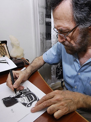 Ali Ferzat, 60, spent years drawing insightful cartoons, mostly staying between the prescribed lines of Syria's state-sanctioned media. But confronted with the regime's increasing brutality, he embraced the democracy movement and turned his lampoons on President Bashar Assad directly. Masked men from the regime soon came for Ferzat. They beat him brutally, making a point of breaking both his hands to stop his cartoons.